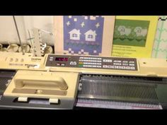 Brother KH 940 Electroknit Knitting Machine with Brother KR 850 Ribber For sale - YouTube