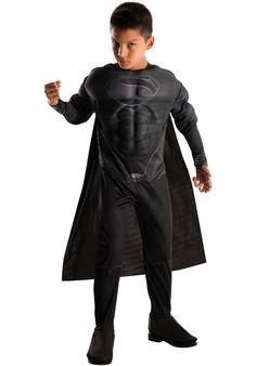 Costume Nero da Superman, Man of Steel - Bambino   Costumi da Super Eroi Bambini
