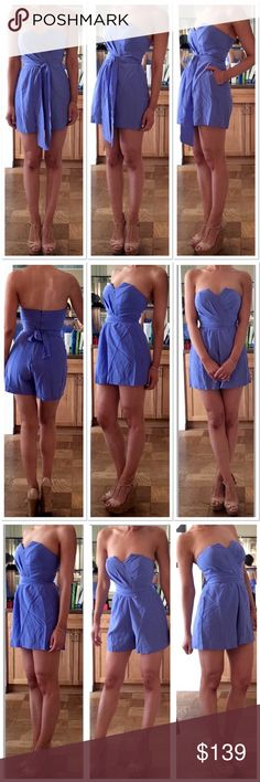Yumi Kim Ava Silk Romper The flirty sweetheart top, padded cups and tie-waist makes this romper perfect for dressing up or down. 100% silk. Lined. Hidden zipper. Side pockets.  Retailed at $229+ Yumi Kim Other