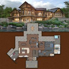 Sandpoint Timber Frame Design - 4,832 Sq Ft