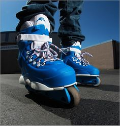 Razors Sega Blue from Aggressive Mall Roller Derby, Roller Skating, Aggressive Inline Skates, Long Skate, Demolition Derby, Skater Girls, Extreme Sports, Pink Brown, Really Cool Stuff