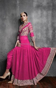 Indian Gown Pattern Party Wear Design For Parties  #embroidery #ss17 #fashionblogger #blogger #fashion #trends #letstalktrend