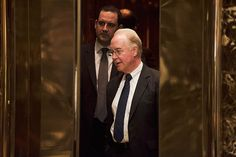 Rep. Tom Price (R-Ga), who has viciously attacked the Affordable Care Act, on an elevator in the lobby at Trump Tower on Fifth Avenue in Manhattan, Nov. 16, 2016. President-elect Donald Trump has selected Price to be secretary of health and human services, according to a transition team official. (Photo: Hilary Swift / The New York Times)