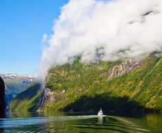 Cruising the Geirangerfjord in Norway.