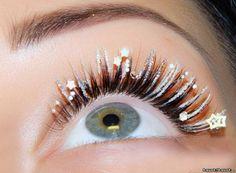 silver eyelash extensions