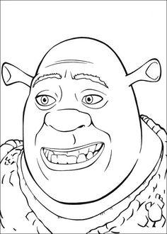 Fargelegging Shrek. Tegninger 1