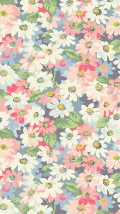 Wallpaper Iphone Backgrounds Inspiration Floral Prints 21 Ideas For 2019 Cute Patterns Wallpaper, Trendy Wallpaper, Pastel Wallpaper, Pretty Wallpapers, Cool Wallpaper, Floral Wallpapers, Wallpaper Pink And Blue, Hippie Wallpaper, Painting Wallpaper