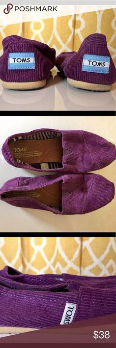 Toms Purple Corduroy Classics Women Size 7 Toms Purple Corduroy Classics Women Size 7. Gently used. Toms Shoes Flats & Loafers