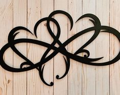 Infinity Heart Metal Sign Infinity Symbol Metal Wall Art | Etsy