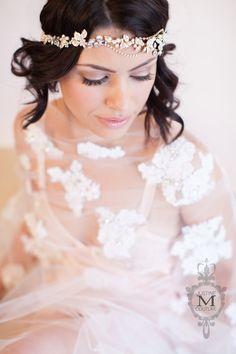 JMC - Pearl _ Glitter Vine - by Justine M Couture bridal accessories Bridal Fascinator, Bridal Headpieces, Bridal Headbands, Bridal Crown, Bridal Tiara, Designer Wedding Gowns, Wedding Dresses, Bridal Hair Ornaments, Bohemian Headpiece