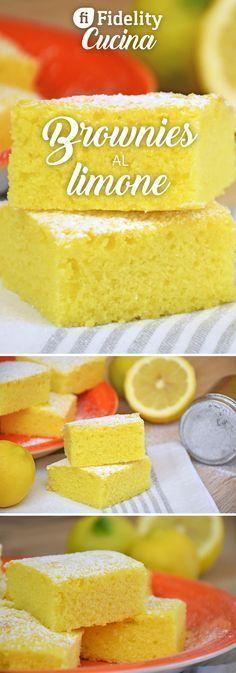 I brownies al limone sono profumatissimi e soffici come una nuvola. Un'alternativa più leggera e fresca dei classici brownies al cioccolato. Ecco la ricetta