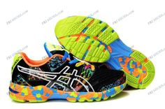 Asics Gel Noosa Tri 8 Black/Green Mens Athletic Running Shoes