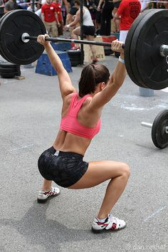 Overhead squats, one of the 9 fundamental movements...love