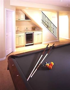 utility kitchen under basement stairs; post utility kitchen under basement stairs; Under Basement Stairs, Bar Under Stairs, Basement House, Basement Plans, Basement Renovations, Home Remodeling, Basement Subfloor, Narrow Basement Ideas, Basement Steps