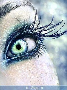 Virgo's eye makeup symbol