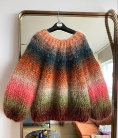 Poncho Knitting Patterns, Knitted Poncho, Rust Orange, Coral Orange, Winter Sweaters, Sweaters For Women, Bomuld, Mohair Sweater, Pajama Set