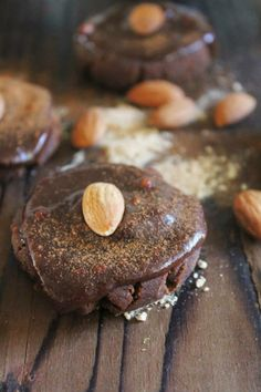 Raw Chocolate Almond Cookies