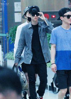 140704- EXO Byun Baekhyun @ Incheon Airport to Chengdu Airport #exok #men #fashion