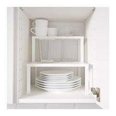 VARIERA Plankinzet IKEA Plaats op een plank om meer opbergruimte te creëren voor glazen, schalen en kruidenpotjes.