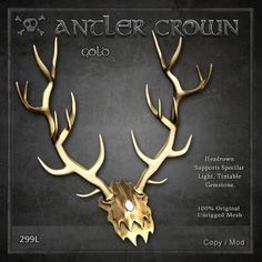 Forge Antler Crown Gold | Flickr - Photo Sharing!