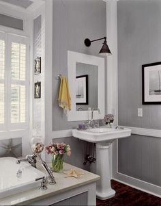 Everyone loves gray. It's become the go-to paint color.  Country Living Magazine ~House of The Year 2008 Requisite Gray~Sherwin Willia...
