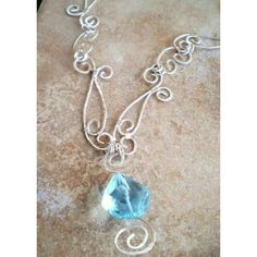 wire halloween jewelry | London Blue Topaz in Blue Ice Necklace by unicorngem1994 on Etsy ...
