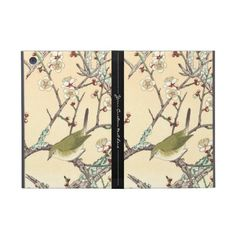 Jo Bird on Plum Branch shin hanga japanese art iPad Mini Cover #ipad #ipadmini #smartphone #apple #case #cover #ipadminicase #japan #oriental #japanese #gift #powis #flower