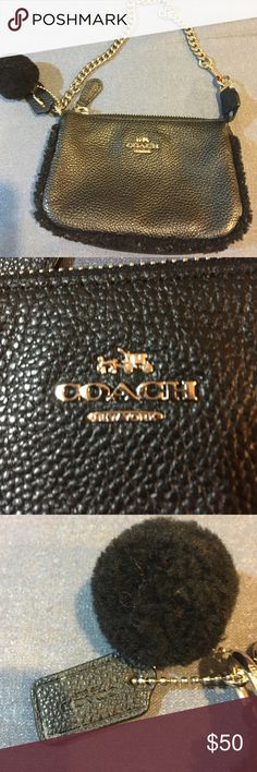 Black coach handbag Black leather coach handbag Coach Bags