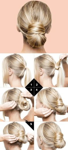 ▷ ideas on how to make effective updos yourself .- ▷ Ideen, wie Sie effektvolle Hochsteckfrisuren selber machen copy-blonde-smooth-hair-pin up-manual-hairstyle-making updo hairstyles-for-itself- - Natural Hair Mask, Natural Hair Styles, Short Hair Styles, Bun Styles, Real Human Hair Extensions, Extensions Hair, Hair Dos, Trendy Hairstyles, Beautiful Hairstyles