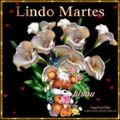 SUEÑOS DE AMOR Y MAGIA: Lindo Martes Spanish Prayers, Lady Guadalupe, Spanish Greetings, Love You Gif, Good Morning Gif, Blessed Mother, Beautiful Day, Christmas Ornaments, Holiday Decor