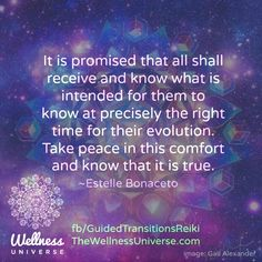 Inspired by Archangel Gabriel  to write a beautiful expanded thought, here is the #Quote of the day from Estelle Bonaceto #WUVIP ~ Wellness Universe Very Inspiring Person ... Filled me with Peace to read <3