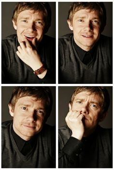 Martin Freeman, it's like he knows he is adorable, and is just taunting us.