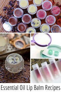A luscious collection of Natural DIY Essential Oil Lip Balm Recipes, ideal for treating dry winter lips! ♡ http://purasentials.com ♡ essential oils with love