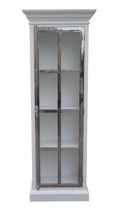 Manhattan Lux Cabinet 80 cm (Hvit og Stål) Oppdaterte bilder kommer