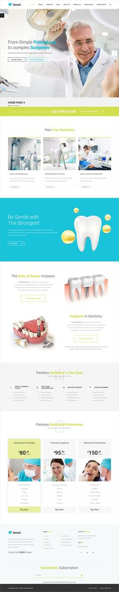 Dental is an elegant, neat and minimal 5in1 responsive #WordPress theme for #webdev #dentist medial, healthcare and dental care websites download now➩ https://themeforest.net/item/dental-a-clean-orthodontist-medical-wp-theme/19277048?ref=Datasata