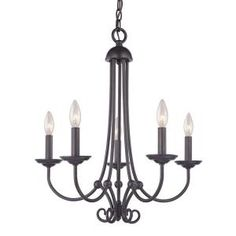 Titan Lighting Williamsport 5-Light Oil Rubbed Bronze Ceiling Chandelier-TN-50096 - The Home Depot