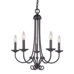 Titan Lighting Williamsport 5-Light Oil Rubbed Bronze Ceiling Chandelier-TN-50096 - The Home Depot