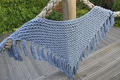 Hand Knitted Things - Patterns: Garter Stich Denim Shawl
