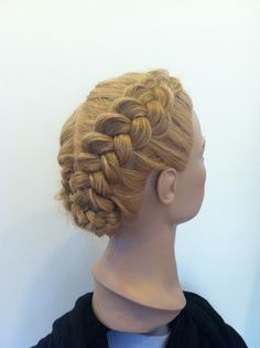 Week 7: braid over and under updo attempt 1