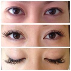 Image result for lash extensions before and after full face