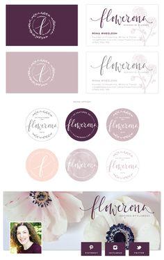 Brand Launch: Flowerona | print and social brand material | Saltedink.com