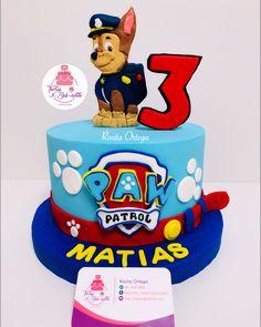 Paw Patrol Chase Cake, Paw Patrol Pinata, Torta Paw Patrol, Paw Patrol Cake Toppers, Paw Patrol Birthday Cake, Baby Birthday Cakes, Paw Patrol Party, Boy Birthday, Pastel Paw Patrol