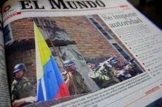Primera página del periódico El Mundo del 20 de octubre del 2002.