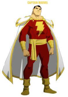 Young Justice Captain Marvel Shazam by ShogoAmakuza on deviantART Mr Marvel, Original Captain Marvel, Captain Marvel Shazam, Comic Books Art, Comic Art, Book Art, Black Adam Shazam, Shazam Movie, Arte Dc Comics
