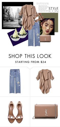"""""""Untitled #93"""" by koyabtsgot ❤ liked on Polyvore featuring Disney and Yves Saint Laurent"""