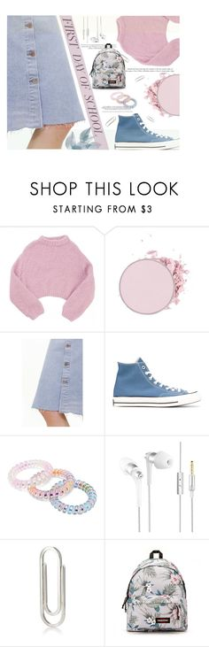 """First Day of School"" by imurzilkina ❤ liked on Polyvore featuring Lala Berlin, M.i.h Jeans, Converse, Forever 21, Barneys New York and Eastpak"