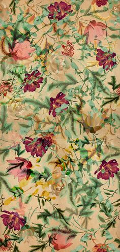 INDIAN FLOWERS PRINT PATTERN by ainams