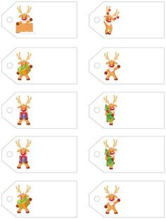 Little Rudolph! Free Printable Christmas Gift Tags! from Letters from Santa || www.easyfreesantaletter.com