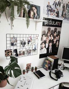 Room Ideas Bedroom, Diy Bedroom Decor, Room Ideias, Ideas Decorar Habitacion, Army Room Decor, Tumblr Rooms, Room Goals, Aesthetic Room Decor, Room Tour