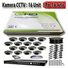 16 Kamera CCTV AHD 1.3MP